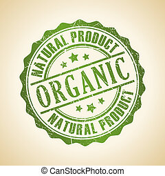 Vector organic stamp