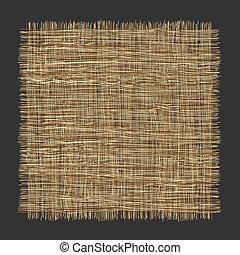 Vector organic weave pattern