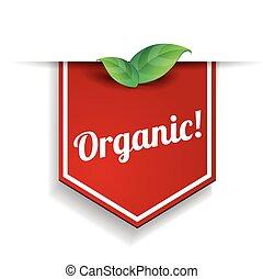 vector, organisch, etiket