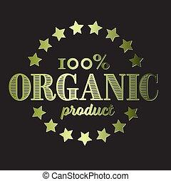 vector, organisch, retro, ouderwetse , product, postzegel, ronde