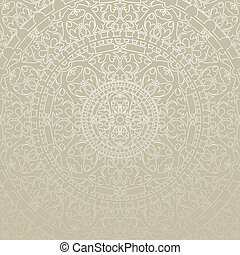 gray background with ornament