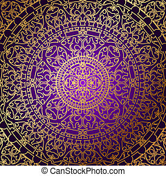 purple background with gold ornamen