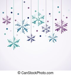 vector origami hanging snowflakes