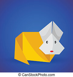 Origami Rabbit Vector Clipart EPS Images 361 Origami Rabbit Clip