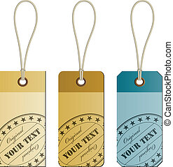 vector original cardboard tags