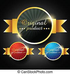 original product - vector original product promotion label...