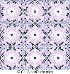 Vector ornament in Eastern style. Ornate element for design in Moroccan style. Ornamental lace pattern for wedding invitations and greeting cards. Traditional colorful decor on purple background.