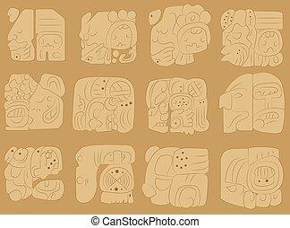Vector ornament  Maya