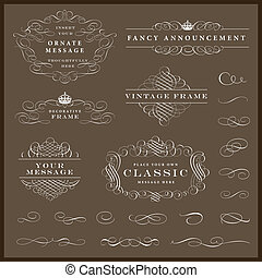 Vector Ornament Set - Easy to edit. Perfect for invitations ...