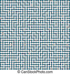 Vector ornament - the technological maze - Vector square...