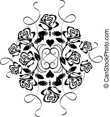 Vector Ornament with flowers