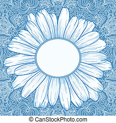 Vector ornamental background. - Vector illustration with...