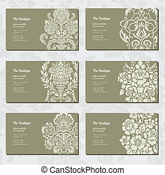 Vector Ornamental Business Card Set