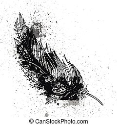 Vector Ornamental Feather