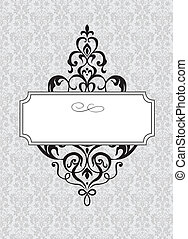 Vector Ornamental Frame and Pattern