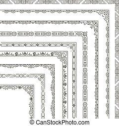 Vector ornamental frame corners and borders