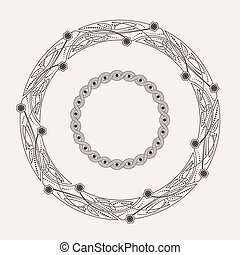 Vector ornamental frame in the Celtic style