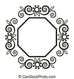Vector ornamental frame. Vector vintage border frame