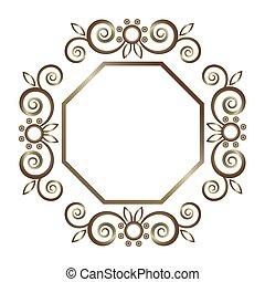 Vector ornamental frame. Vintage border frame