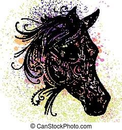 Vector Ornamental Horse