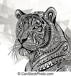 Vector Ornamental Tiger