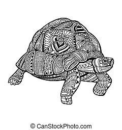 Vector Ornamental Turtle