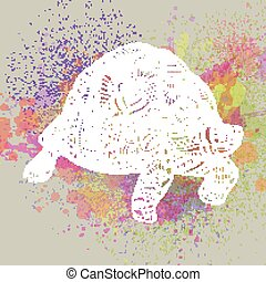 Vector Ornamental Turtle