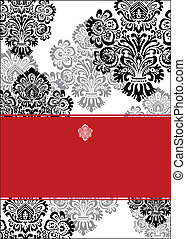 Vector Ornate Background and Frame