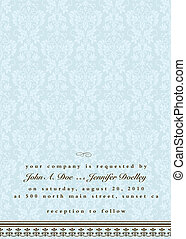 Vector Ornate Background for Invitations