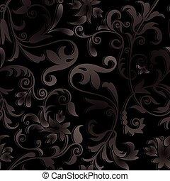 Vector ornate black background
