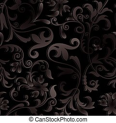 Vector ornate black background
