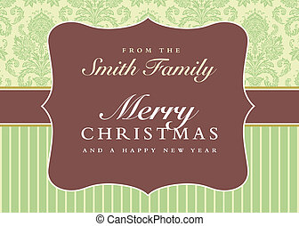 Vector Ornate Christmas Frame and Patterns