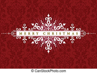 Vector ornate holiday invitation or announcement. Easy to edit.
