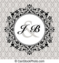 Vector Ornate Circle Frame and Pattern
