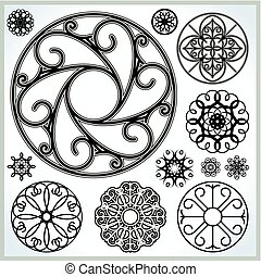 Vector Ornate Circles Collection
