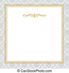 Vector Ornate Complex Gold Frame - Vector ornate frame. Easy...