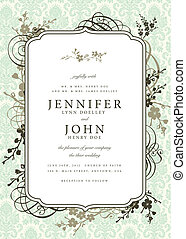 Vector Ornate Frame and Floral Ornaments