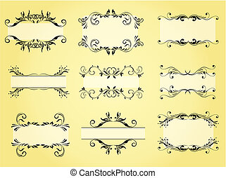 Vector Ornate Frame and Ornament