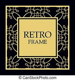 Vector ornate frame
