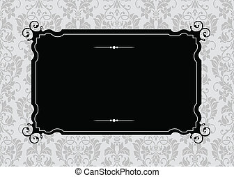Vector Ornate Frame and Pattern