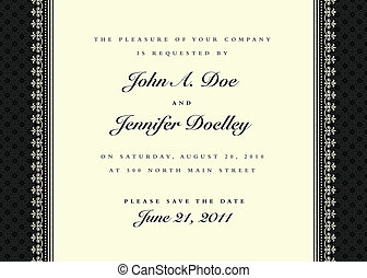Vector Ornate Frame and Sample Text - Vector frame and ...