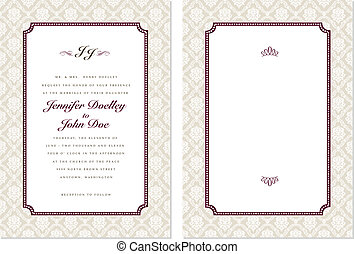Vector Ornate Frame Set