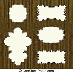 Vector Ornate Frame Set with Pattern
