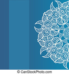 Vector ornate frame with sample text. Azure