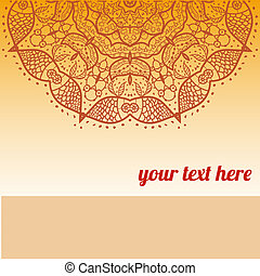 Vector ornate frame with sample text.