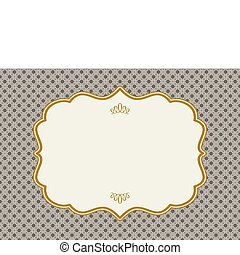 Vector Ornate Gold Frame