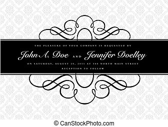 Vector Ornate Narrow Frame and Ornament