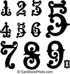 Vector Ornate Number Set