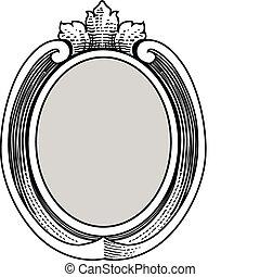 Vector Ornate Oval Frame