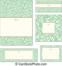 Vector Ornate Pastel and Ivy Frame Set